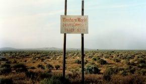 W.Wenders, Western World Development, Near Four Corners, California, 1986
