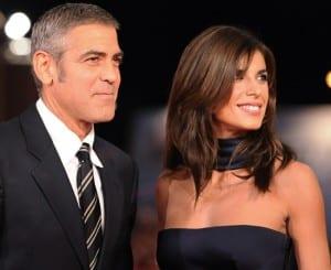 Elisabetta Canalis insieme a George Clooney