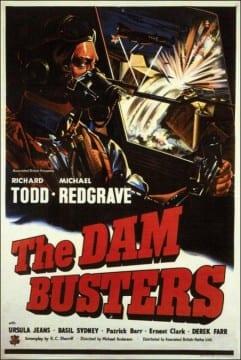 """Locandina di """"the Dam Busters"""" di Michael Anderson, 1955"""
