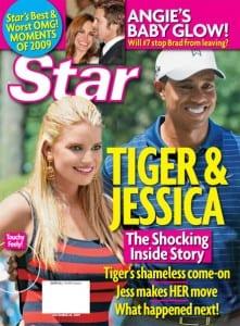 La copertina di Star che Ritrare Jessica Simpson e Tiger Woods