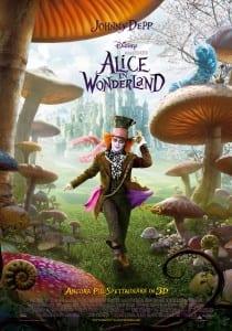 "Locandina italiana di ""Alice in Wonderland"""