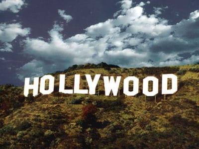 "La famosa scritta ""Hollywood"""