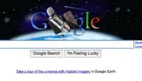 Logo di Google per il ventesimo anniversario dal lancio del Telescopio di Hubble