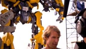 Michael Bay sul set di Transformers 3