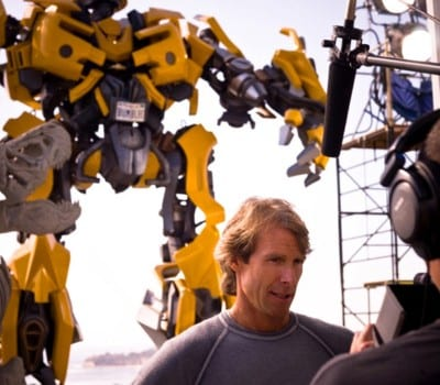 Michael Bay sul set di Transformers 3