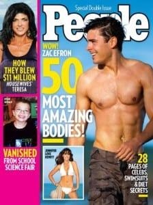 Zac Efron sulla copertina di People
