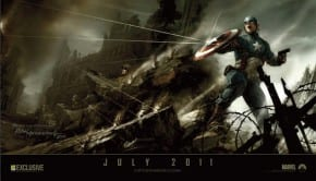 2010 San Diego Comic Con exclusive poster Paramount Pictures The First Avenger Captain America 2011