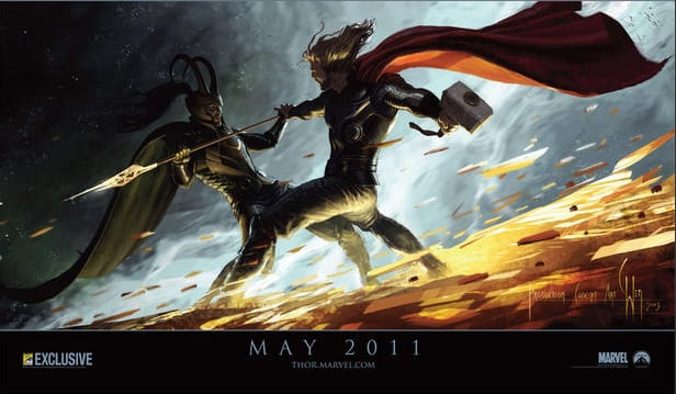 2010 San Diego Comic Con exclusive poster Paramount Pictures Thor 2011