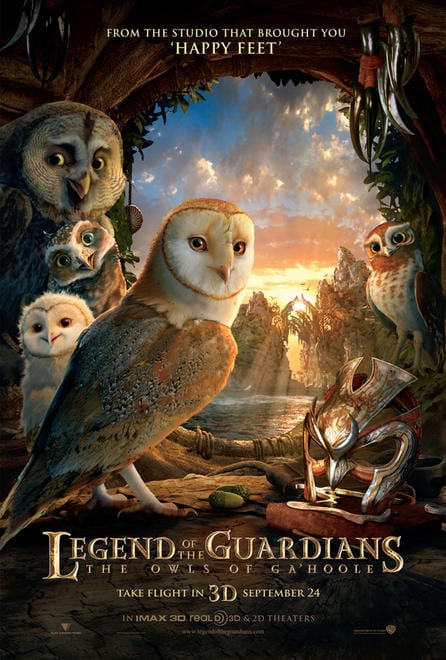 Legend of the Guardians The Owls of GaHoole movie poster