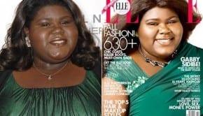 gabourey sidibe elle magazine fall cover green dress 590ls091610