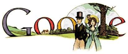 Il Doodle di Google dedicato a Jane Austen
