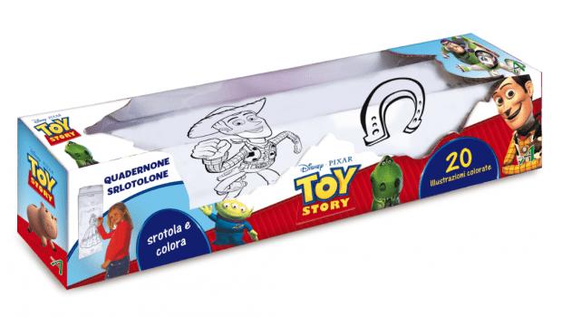 quadernone srotolone di toy story 3