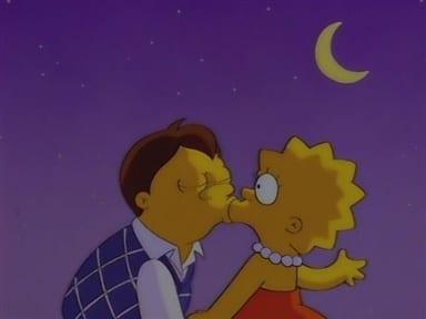 lisa simpson bacio