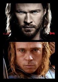 Chris Hemsworth e Brad Pitt