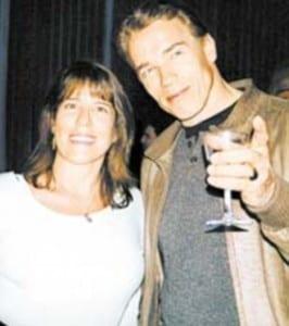 Gigi Goyette e Arnold Schwarzenegger