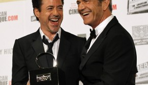 174427 actor mel gibson r presents actor robert downey jr with the 25th ameri111015083919