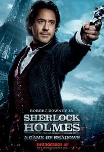 sherlock holmes 2 character poster banner robert downey jr