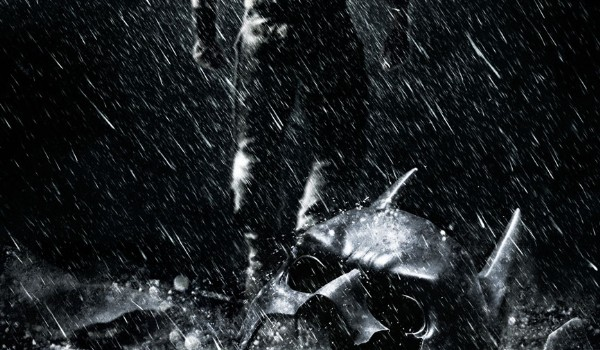 the dark knight rises il poster di bane
