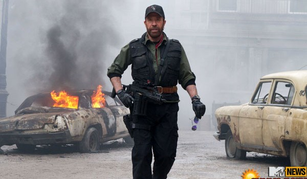 chuck norris the expendables 2 image