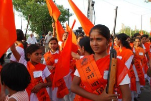 14 yr old Chinmayee Poses With a Rifle at the Durga Camp Graduation Ceremony 02