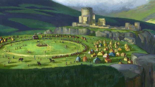 Gamesfield Painting SPilcher Acrylic 2007 updated