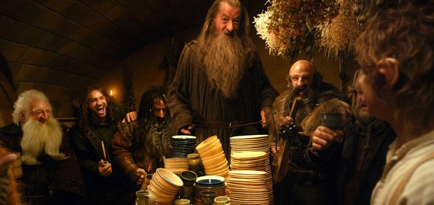the hobbit bilbo dwarves gandalf wide