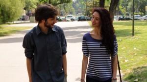 Sara e Mauro nel parco