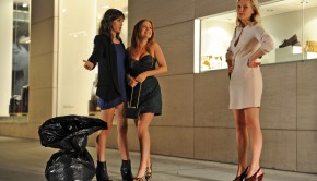 ladies argue on street hires