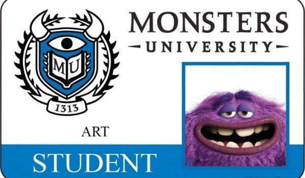 monsters university id card art