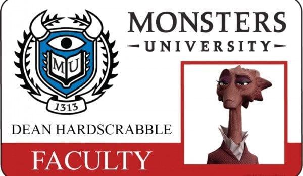 monsters university id card dean hardscrabble