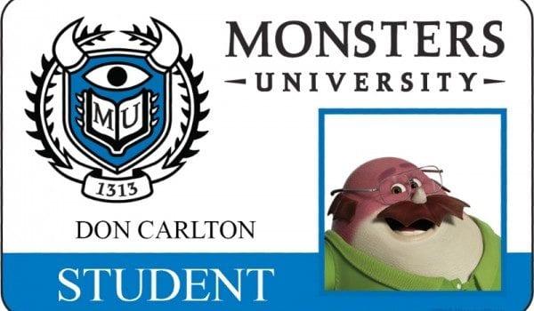 monsters university id card don carlton