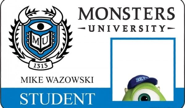 monsters university id card mike wazowski