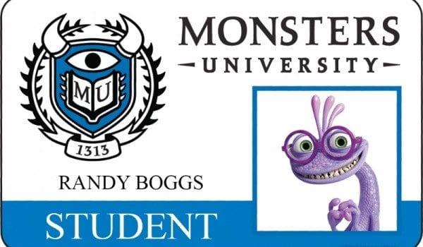 monsters university id card randy boggs