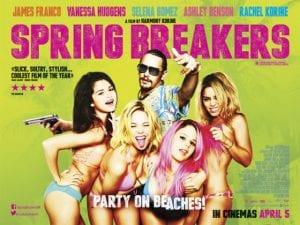 La seconda versione del poster di Spring Breakers