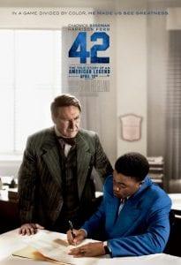 """I due protagonisti di """"42"""""""
