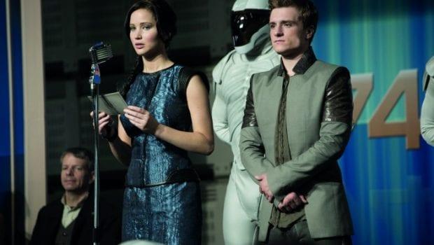 La ragazza di fuoco Jennifer Lawrence e Josh Hutcherson