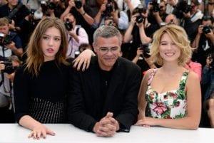 Adele Exarchopoulos, Abdellatif Kechiche e Lea Seydoux | © Pascal Le Segretain/Getty Images