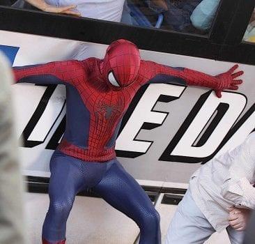 amazing spider man 2 set photo bus 1