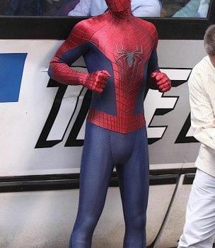amazing spider man 2 set photo bus 3