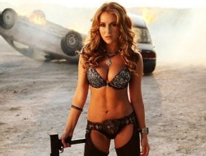 Una sexy Alexa Vega in un'immagine del teaser trailer di Machete Kills