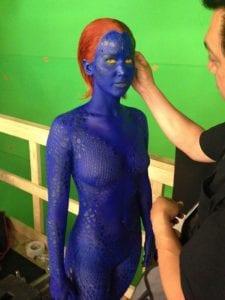 Jennifer Lawrence nei panni di Mystica in X-Men: Giorni di un futuro passato