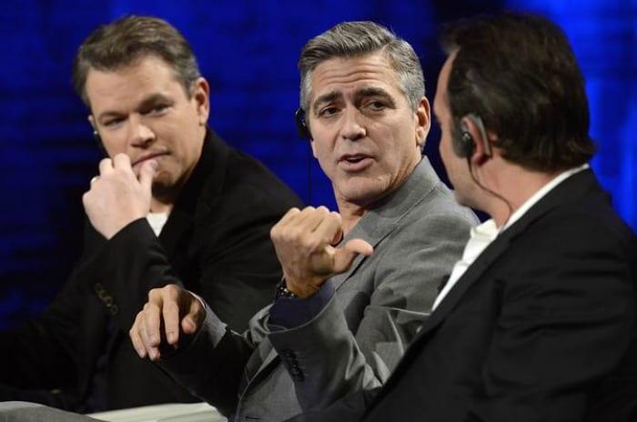 Matt Damon, Clooney e Dujardin