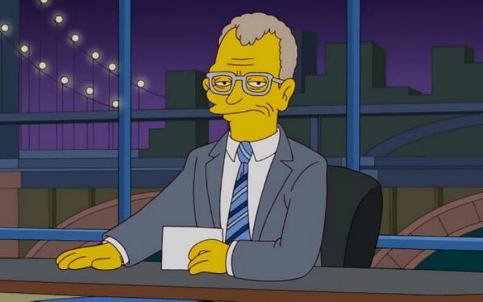 David Letterman omaggiato da I Simpson