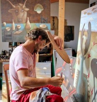 Giorgio che dipinge 3