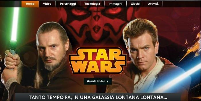 Il sito italiano di Star Wars
