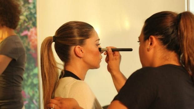 Belen Rodriguez backstage
