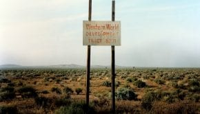 W.Wenders Western World Development Near Four Corners California 1986