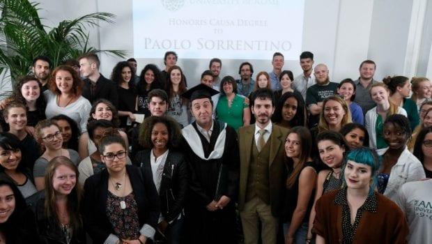 Paolo Sorrentino riceve la laurea honoris causa