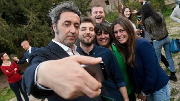Paolo Sorrentino selfie