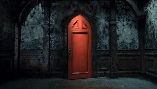 the haunting door